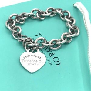 Authentic TIFFANY & Co Heart Tag Bracelet